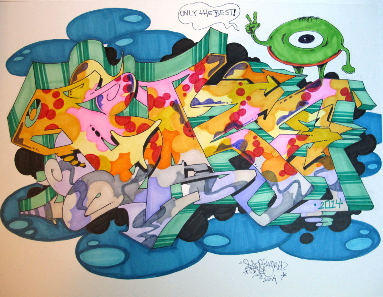 "CHRIS ""DAZE"" ELLIS -  ""Only The best"" Black Book Drawing"