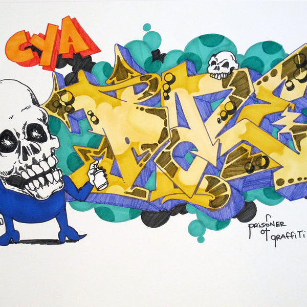 "CHRIS ""DAZE"" ELLIS -  ""CYA"" Black Book Drawing"