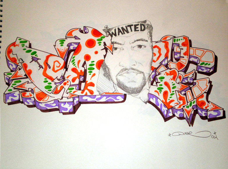 "CHRIS ""DAZE"" ELLIS -  ""Wanted"" Black Book Drawing"