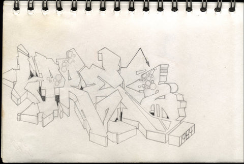 "Dondi White - ""Pre""   Black Book Drawing"