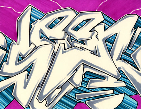 GRAFFITI ARTIST SEEN - WildStyle 3- Drawing