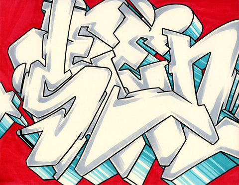 GRAFFITI ARTIST SEEN - WildStyle 8- Drawing