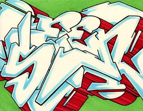 GRAFFITI ARTIST SEEN - WildStyle 44- Drawing