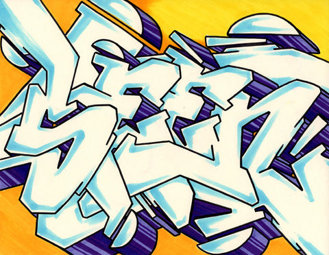 GRAFFITI ARTIST SEEN - WildStyle 10- Drawing