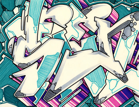 GRAFFITI ARTIST SEEN - WildStyle 13- Drawing