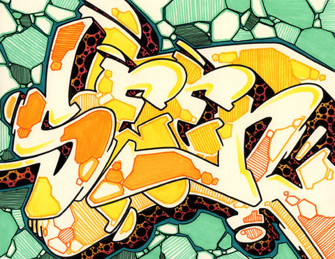 GRAFFITI ARTIST SEEN - WildStyle 14- Drawing