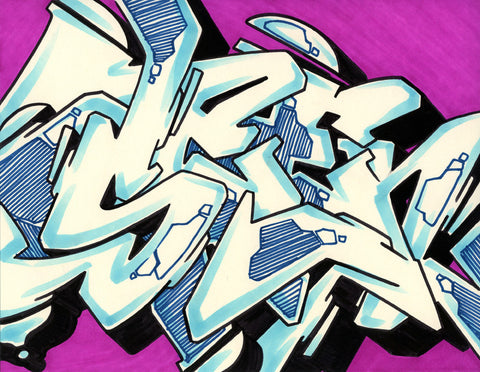 GRAFFITI ARTIST SEEN - WildStyle 23- Drawing