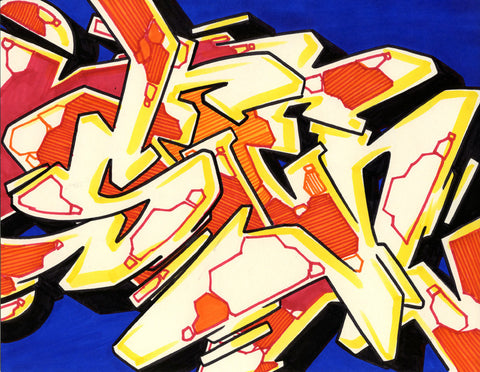 GRAFFITI ARTIST SEEN - WildStyle 24- Drawing