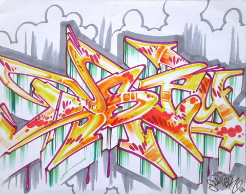 "DUSTER  -  ""Piece""  Black Book Drawing"
