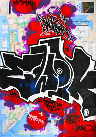 "EWOK 5MH  -  ""Untitled 5""  NYC Map"