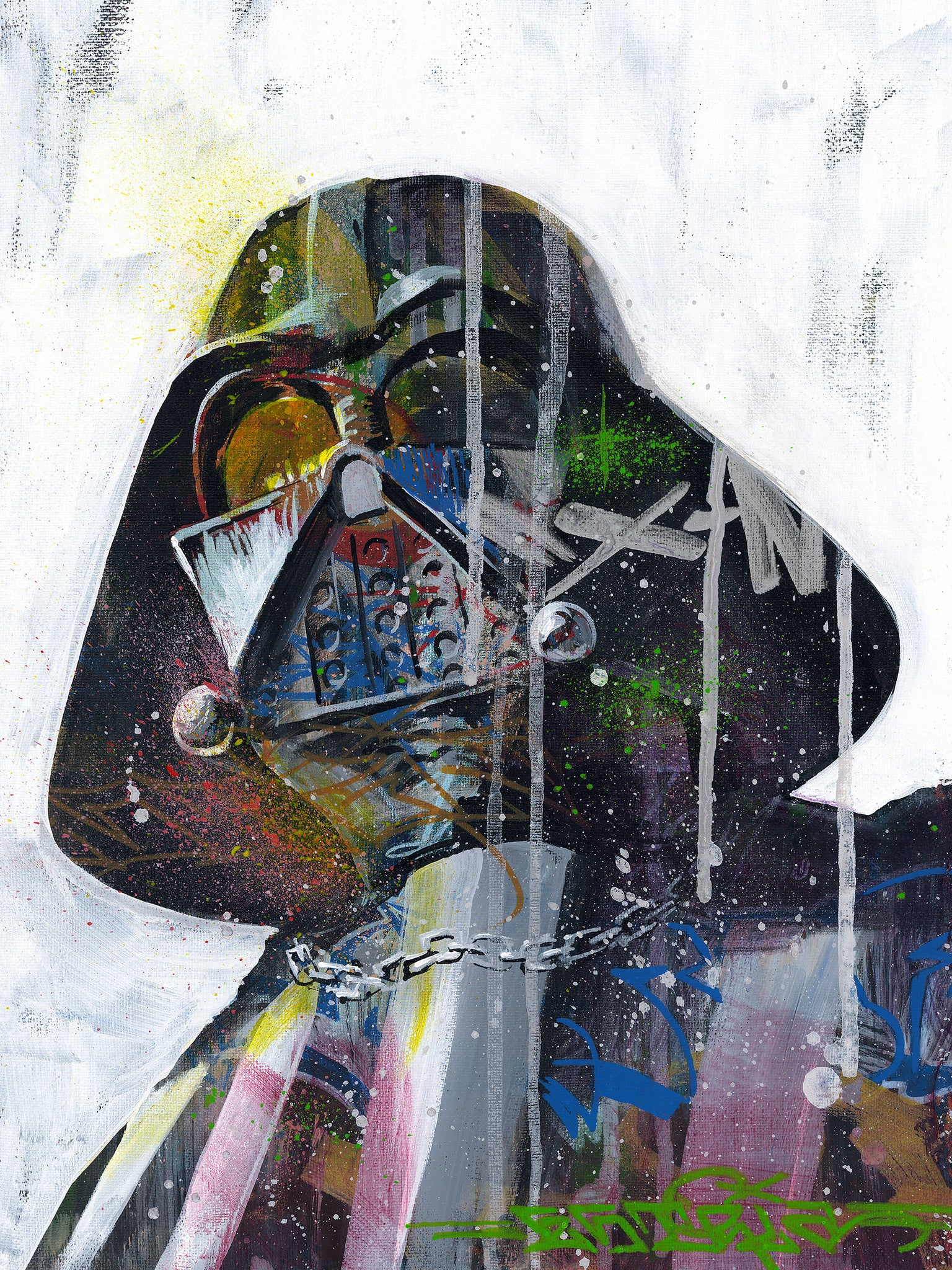 "ESTRIA ""Darth Vadar"" Painting"