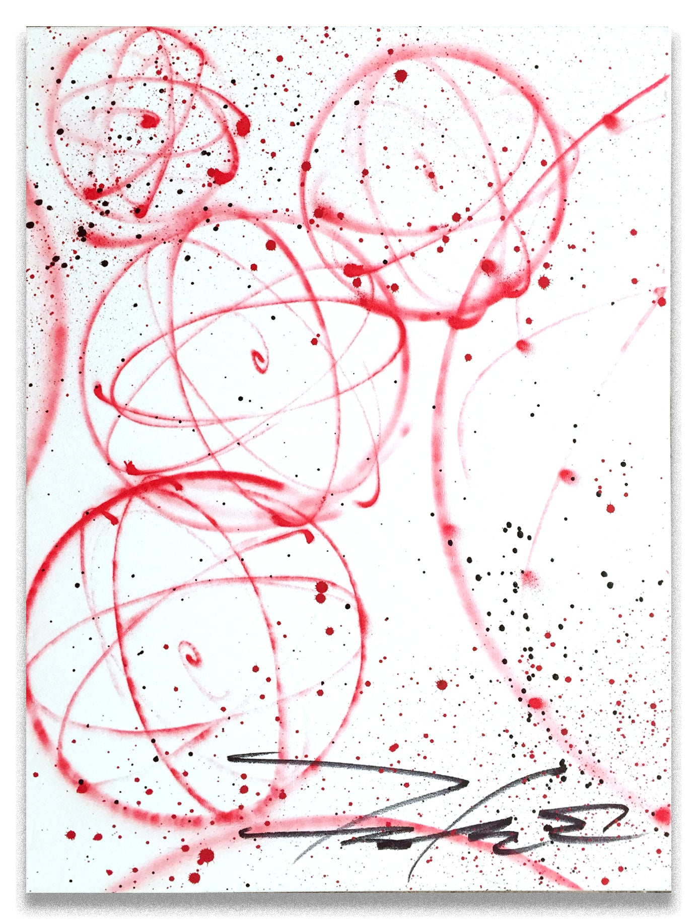 "FUTURA 2000 - "" Red Atoms""  Painting"