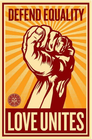"SHEPARD FAIREY - ""Love Unites"" Numbered Sticker Print"