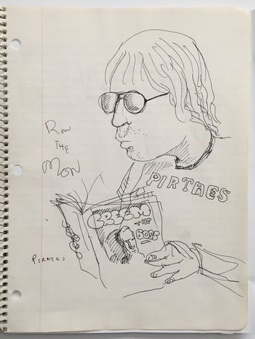 "DANIEL JOHNSTON- ""CREEM"" Notebook Drawing 1980"