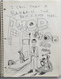 "DANIEL JOHNSTON- ""They call it a Bargain"" Notebook Drawing 1980"
