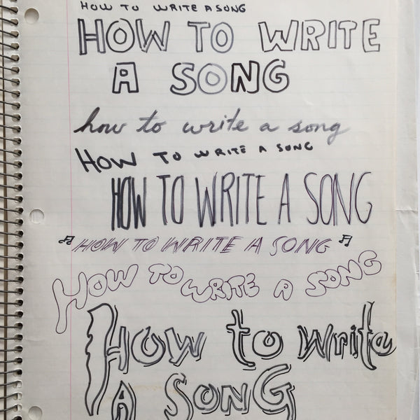 "DANIEL JOHNSTON- ""How to write a Song"" Notebook Drawing 1980"