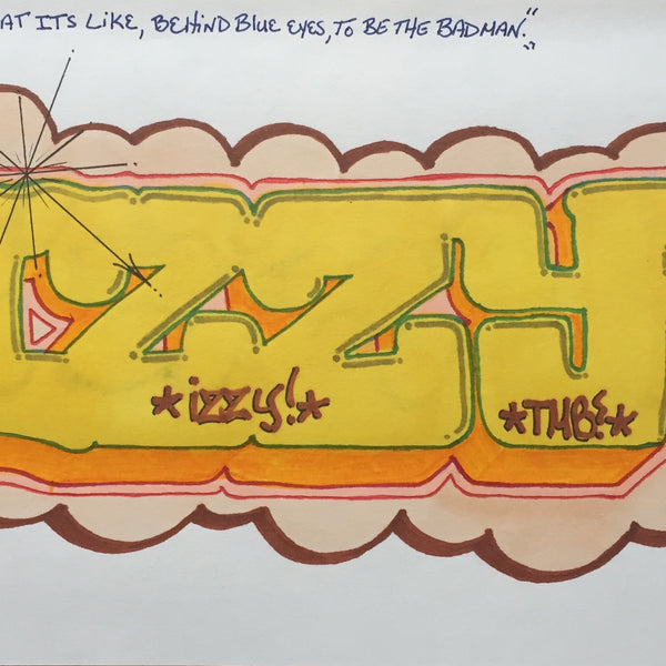 "IZ THE WIZ  ""IZZY"" Black Book Drawing"