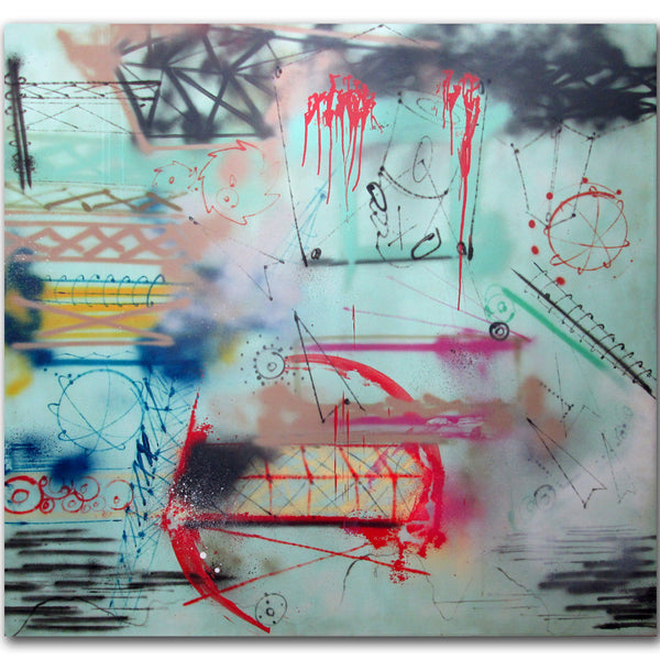 "FUTURA 2000 -""Untitled"" 1984 painting"