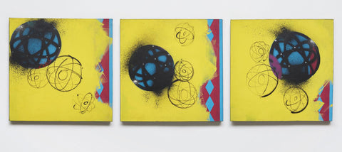 "FUTURA 2000 -""Triptych"" 1993 painting"
