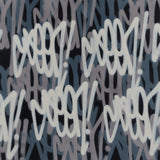 "GRAFFITI ARTIST SEEN  -   ""Multi  Tags""  Aerosol on  Canvas"