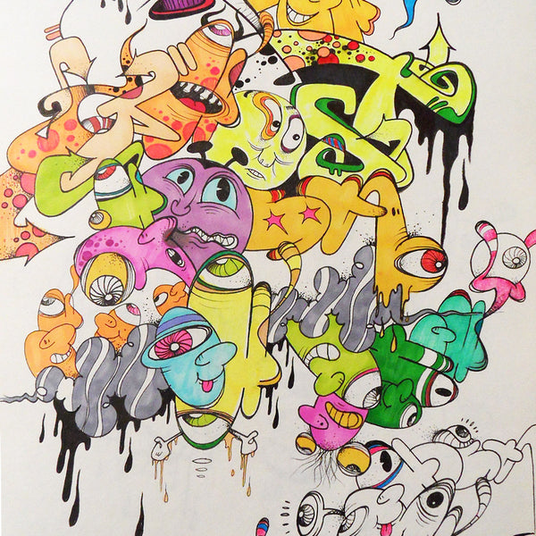 "GHOST  ""Untitled 1"" Black book Drawing"