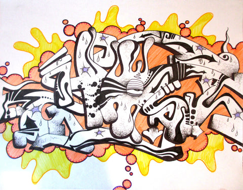 "GHOST  ""Untitled #9"" Black book Drawing"