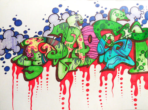 "GHOST  ""Untitled 4"" Black book Drawing"