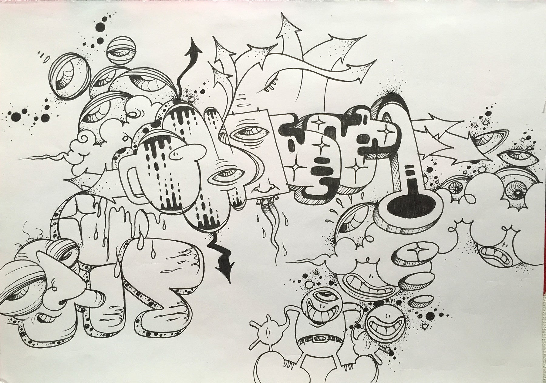 "GHOST  ""Untitled"" Black book Drawing"