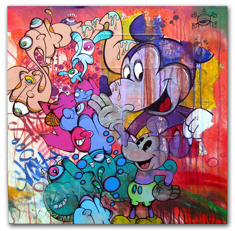 GHOST-  Multi Mickey #2 Canvas