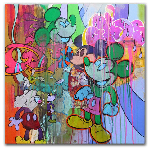 GHOST-  Multi Mickey Canvas