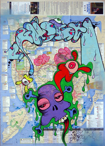 GHOST-  Painting on NYC Map