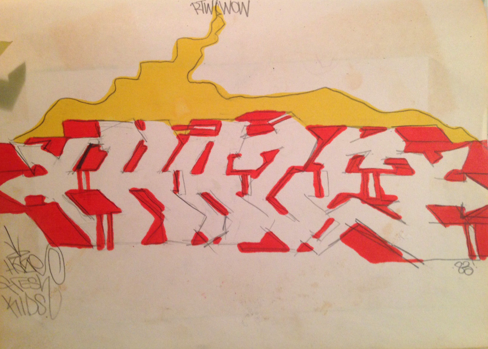 "HAZE  ""Untitled 1983""  Black Book Drawing"