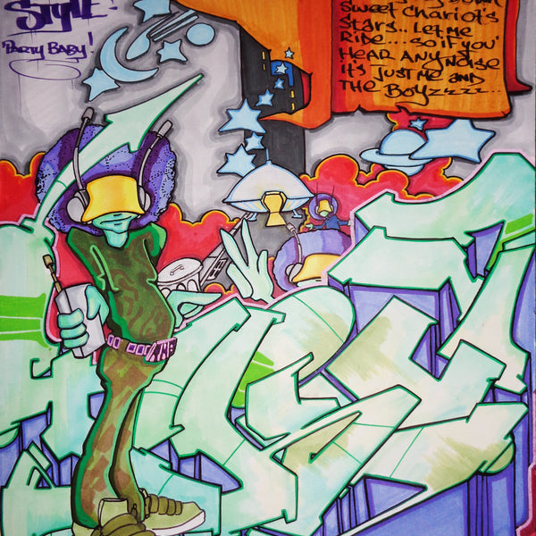 "T-KID 170  - ""Wildstyle""  Drawing"