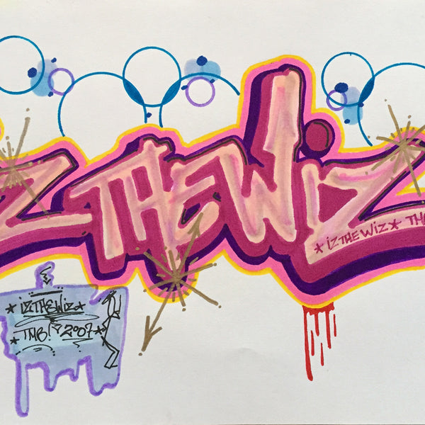"IZ THE WIZ - ""IZ THE WIZ"" Drawing"