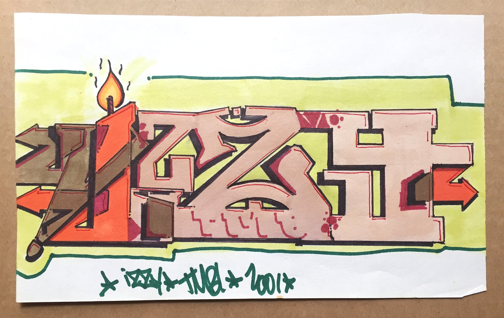 "IZ THE WIZ  "" IZZY"" Drawing"