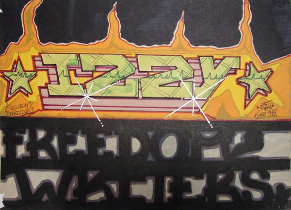 "IZ THE WIZ - ""Freedom Writers""  Black Book Drawing"