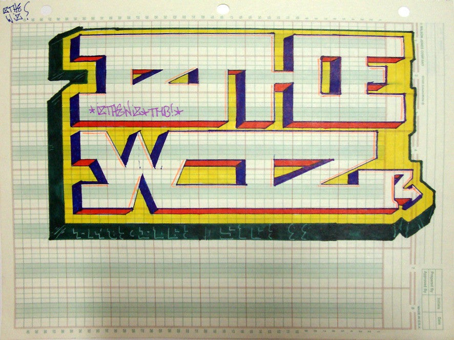 "IZ THE WIZ - ""Block Buster""  Black Book Drawing"