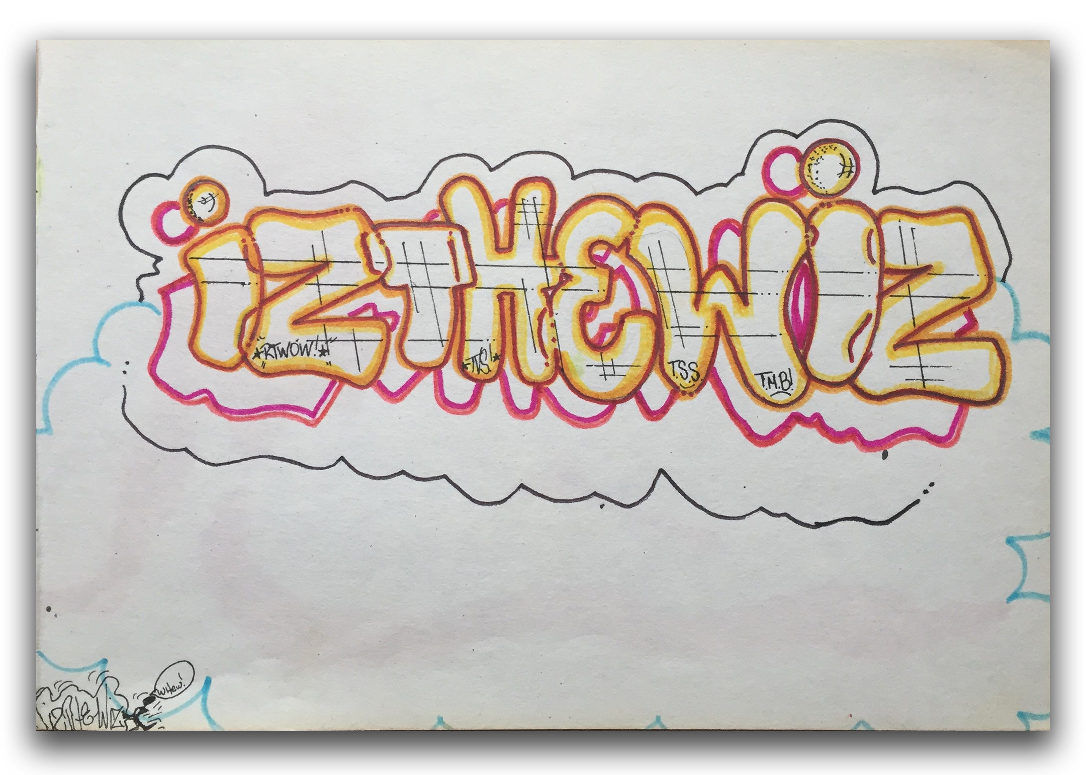 "IZ THE WIZ - "" IZ THE WIZ"" Drawing 1987"