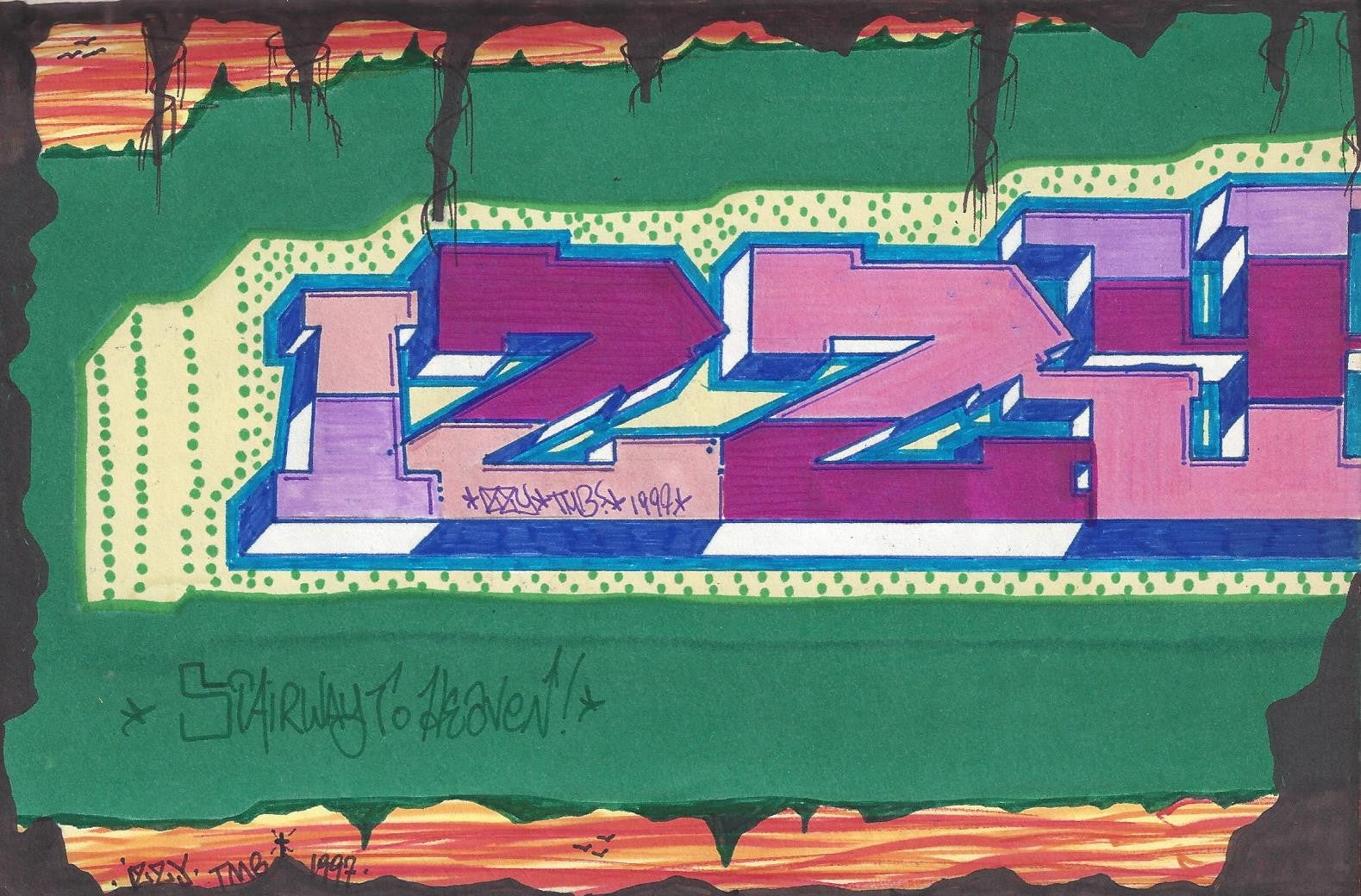 "IZ THE WIZ - ""Turn out the lights"" Drawing"