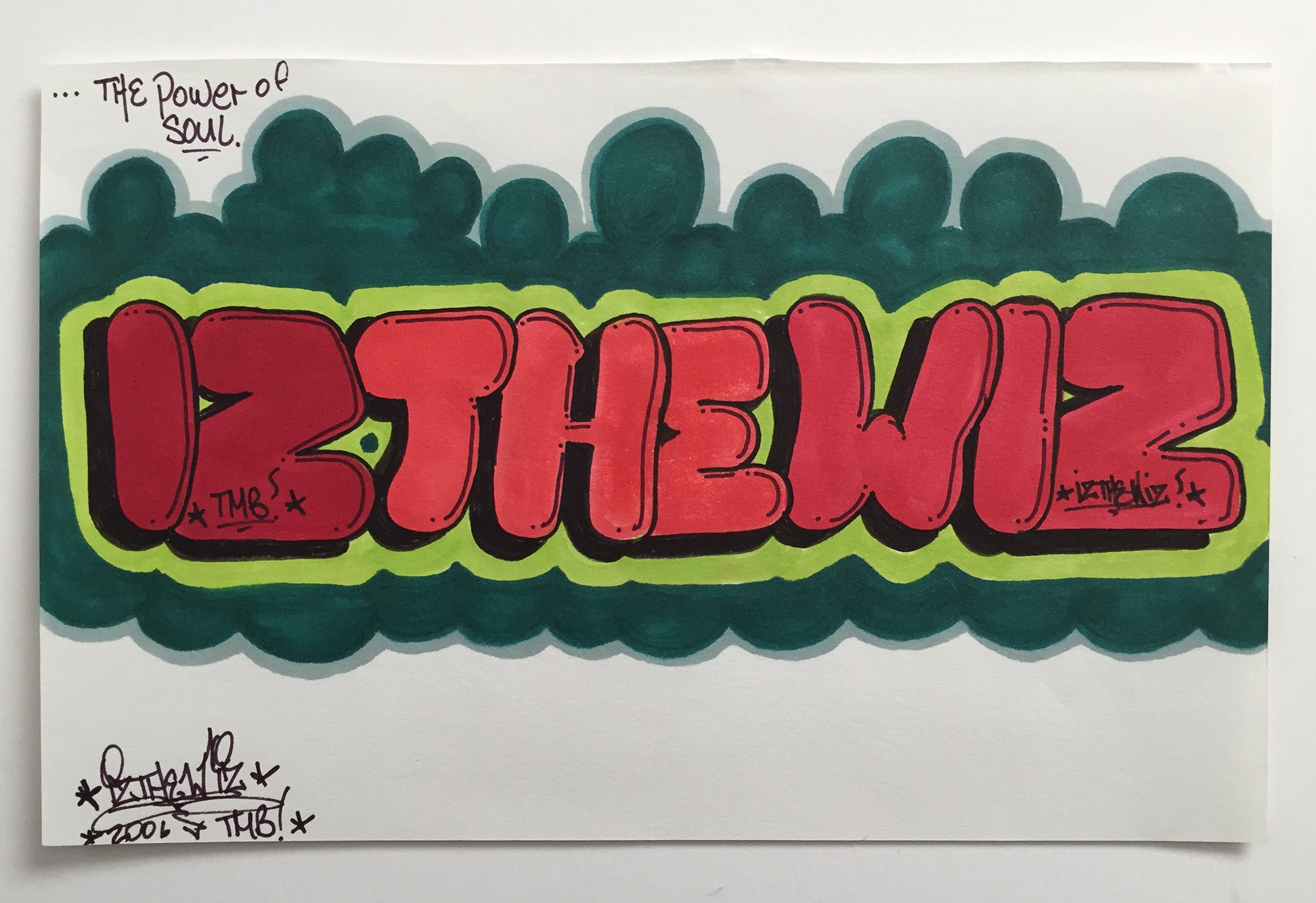 "IZ THE WIZ - "" Power of the Soul"" Drawing"