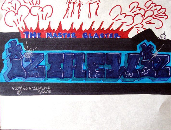 "IZ THE WIZ - ""Master Blaster""  Black Book Drawing"