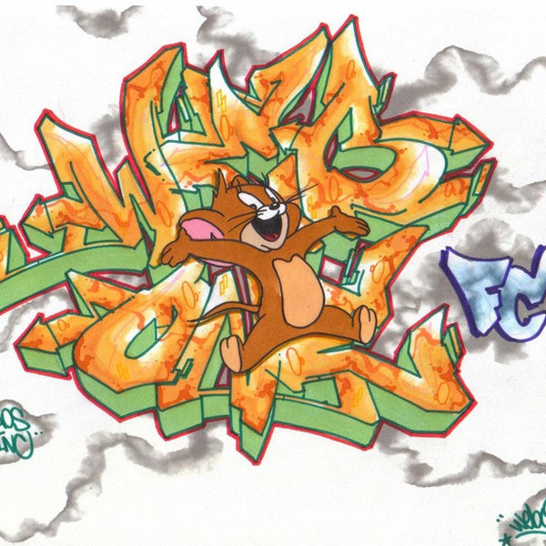 "WEB ONE - TC5 - ""Jerry""  Blackbook Drawing"