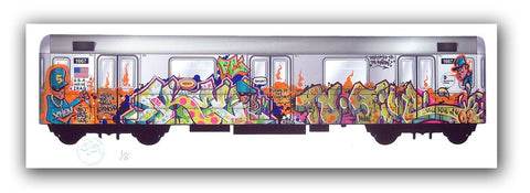 "KEO  - ""Trains of Thought"" Print"