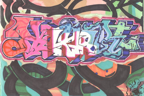 "KR.ONE - ""Kay-Art"" Black Book Drawing"