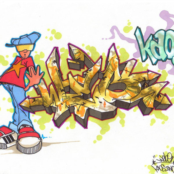 "WEB ONE - TC5 - ""Kaos Inc""  Blackbook Drawing"