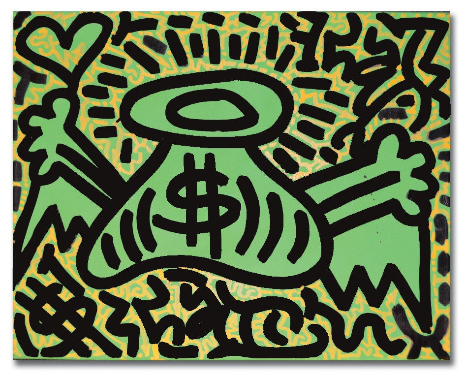"LA II - ""Money Bag- Green""  Painting"