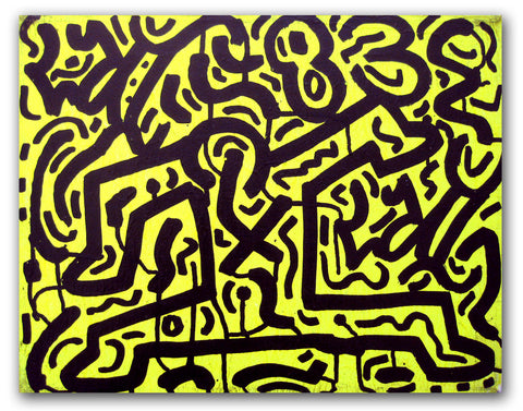 "LA II - ""Running Man 2""  Painting 1983"