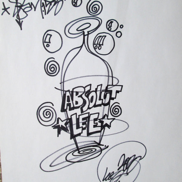 "LEE QUINONES - ""Absolute LEE"" Black Book Drawing"