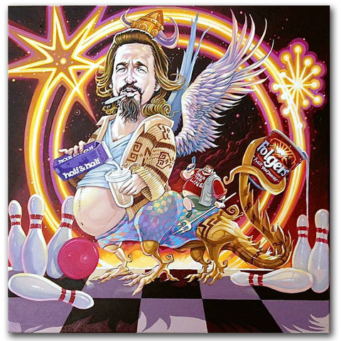 DAVE MACDOWELL - Like, Far Out Man  - Painting