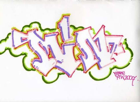 "MIN ONE -""Untitled #3"" BlackBook Drawing"